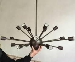Mid Century Chandeliers Discount Vintage Large Sputnik Chandelier 18 Lights Lobby Hanging