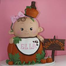 fall baby shower cake pumpkin sculpted 3d nc sweet memories