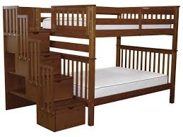 bunk beds full over full stairway expresso 948 bunk bed king