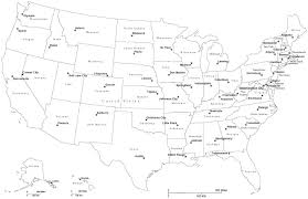 usa map just states us map with just states black and white us map with capitals 53372