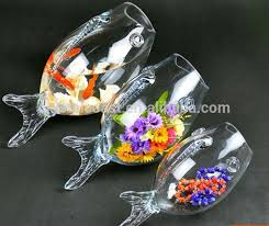 large glass fish bowl glass goldfish bowl clear glass fish bowl