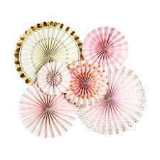 pink and gold party supplies pink and gold party fans berrypom party supplies