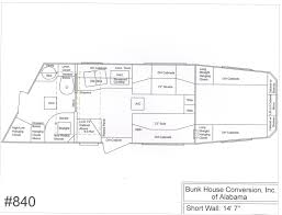 horse trailer living quarter floor plans congress floorplans by bunkhouse conversion of alabama