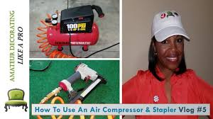 Central Pneumatic Staples by Central Pneumatic Air Compressor U0026 Stapler Easy Instructions