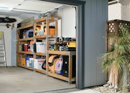 diy over car garage shelving diy done right