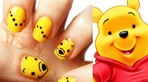 cute winnie the pooh nails youtube nail art archives the epilepsy