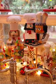 nutcrackers and department 56 collectible villages in the kitchen