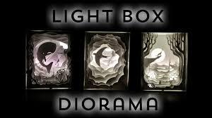 illuminated cut paper light boxes diorama youtube