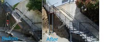 hoss lee steel stairs precast steps repair replacement