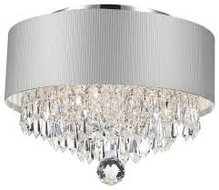 Crystal Bar Chandelier Dining Room Contemporary Modern 3 Light Chrome Crystal Chandelier