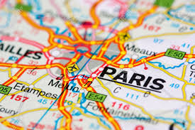Map Paris France by Close Up Of A Road Map Near Paris France Swallow Dof Stock Photo