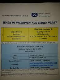 global pharma news torrent pharmaceutical limited walk in on 29 11 15
