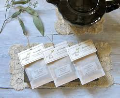 tea bag party favors tea sler pack 6 handmade leaf tea bags you choose