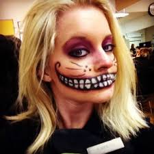 Cat Costumes Halloween Cheshire Cat Theatrical Makeup Student Colleen Tubc