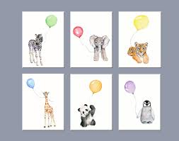 nursery art animals nursery wall decor zoo animal nursery