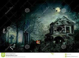 Halloween Light House by Scary House Halloween Night Special Stock Illustration Image