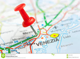 Map Venice Italy by Venice On A Map Stock Photo Image 53875206