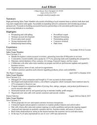 Great Sales Resume Best Sales Team Member Resume Example Livecareer