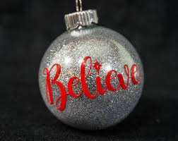 believe ornament etsy