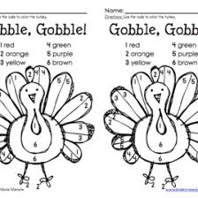 thanksgiving color by number turkey freebie turkey coloring page