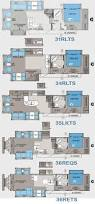 Rockwood Camper Floor Plans Continental Coach 43 U0027 Double Bedroom Floorplans Rv U0027s With Bunk