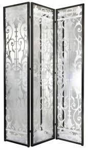 mirrored room divider screen open travel