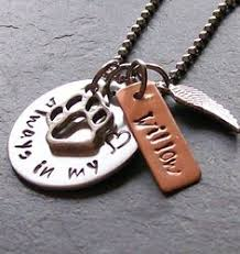 Remembrance Keychain Copper Handstamped Pet Memorial Remembrance Keychain Never
