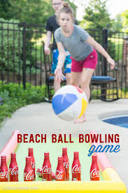 diy coke bottle outdoor bowling game pool noodles coke and