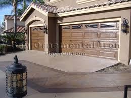 bay ornamental iron garage doors