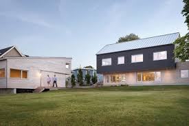 modern home design new england modern home offers cantilevers and energy efficient design curbed