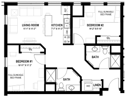2 Bedroom Floor Plans by Varsity Quarters Floorplans Varsity Quarters