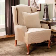 Wing Chair Cover Accessories Wing Back Chair Covers In Lovely Wing Chairs Covers