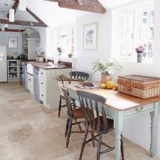 shabby chic kitchen ideas beige textured sticky tiles with rustic grey chairs and white