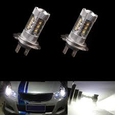 led lights for cars store h7 80w super white 16 cree high power led front daytime running