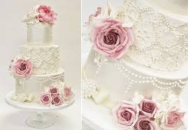 pearl lace lace wedding cakes pearl beaded lace cake magazine