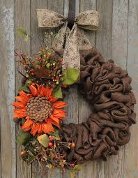 25 unique sunflower burlap wreaths ideas on sunflower