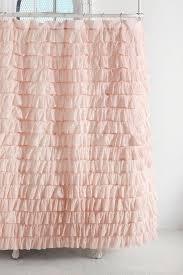 bathroom pink ruffle shower curtain white ruffle shower