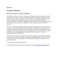 executive director position application deadline builders