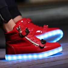light up shoes gold high top buy cheap kids led light up high tops flash shoes red gold