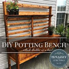 Redwood Potting Bench 45 Diy Potting Bench Plans That Will Make Planting Easier Free