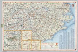 Map Of Carolinas Shell Highway Map Of North Carolina David Rumsey Historical Map