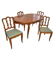 french provincial style oval dining table and dining chairs ebth