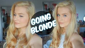 best the counter platinum hair color going from brown to platinum hair at home vlog ellesse