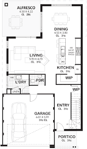 Floor Plan Two Storey by 3 Bedroom 2 Storey Home Designs Perth Vision One Homes