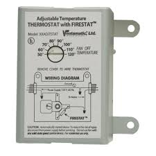 thermostat controlled exhaust fan ventamatic cool attic 10 amp programmable thermostat with firestat