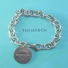 bracelet tag tiffany images Tiffany co 7 8 return to round tag bracelet tradesy jpg