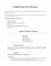 restaurant server resume resume exles for restaurant server unique restaurant resume