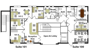 office floor plan layout interior design
