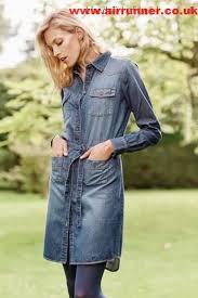 next denim dk blue denim shirt dress 154227 women blue womens
