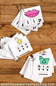 N Cvc Words by Cvc Cut U0026 Paste Worksheets U0026 Phonics Cards